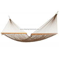 China Portable Folding Outdoor Rope Hammock Double Hanging Tree Spreader Bars Antique Brown wholesale