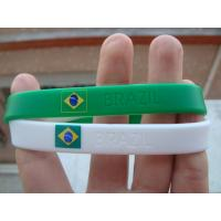 China Country Flag Friendship silicone Bracelet Wristband for Football Team Soccer Fans wholesale