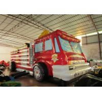 China Giant Inflatable Assault Course 9.1 X 3.1 X 4m  , Inflatable Fire Truck Bouncy Assault Course on sale