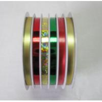 Quality Crimpled Metallic Metallic Curling Ribbon Roll 5mm 6m Ribbon Spool Packed With Shrink Film for sale