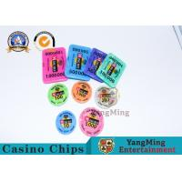 Buy cheap ABS RFID Gambling Chips , Monte Carlo Blackjack Poker Chips With Security Number from wholesalers