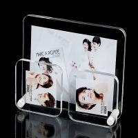Quality Office Clear plastic photo frames Lightweight with 3 picture holders for sale