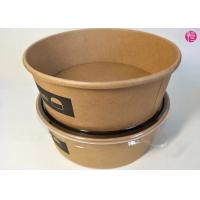 China Unbleached Kraft Paper Salad Rice Noodle Bowl 20oz 26oz 32oz 36oz 44oz Custom Printed Food Container Supplier wholesale