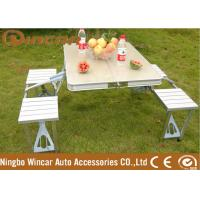 Quality Aluminum Outdoor Camping Tables / Four Person Folding Dining Table for sale