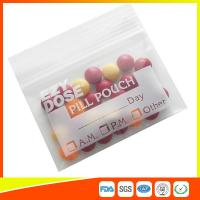 China Customized Clear Ziplock Pill Bags Resealable For Drug Medicine Packing wholesale