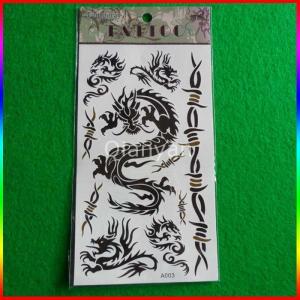 China Fashion new temporary tattoo sticker chinese dragon stickers on sale