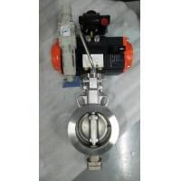 China Pneumatic triple eccentric butterfly valve Pneumatic actuator control butterfly valves on sale