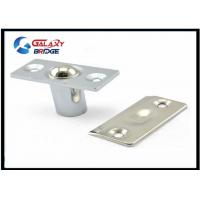 China Stainless Steel Glass Door Stopper , Brushed Satin Nickel Hydraulic Magnetic Door Catch on sale