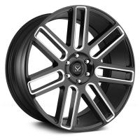 Quality luxury car 20 inch automotive aluminium black machined alloy wheels for sale