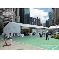 China Aluminum A Frame Heavy Duty Flame Retardant PVC Structure Outdoor Exhibition Tents with White PVC Sidewalls on sale