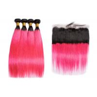 China Brazilian Long 1BPink Human Hair Straight No Tangle No Shedding wholesale