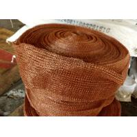 China Standard SP Copper Knitted Wire Mesh For Corrosion Resistant Filter Pad wholesale
