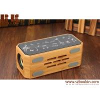 China 2018 Promotional Gift Touch Screen Color LED Light Blue tooth Speaker Wooden Home Portable Wireless Bluetooth Speaker on sale
