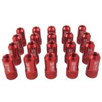 China Red 40mm Aluminum Racing Wheel Lug Nuts With Key / Lock For Honda wholesale