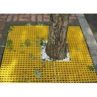 China Molded Fiberglass Plastic Floor Grating For Tree Yellow Color SGS Approval on sale