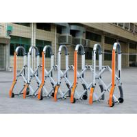 China Aluminium Manual Safety Accordion Barrier Gate With Reflective Strickers wholesale