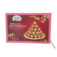 China A2 Thin Flat Snap Frame Led Light Box Pink Color Backlit For Hotel Advertiising wholesale