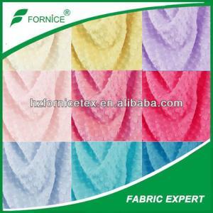 China China Supplier Hot sale  100% Polyester Dot  Minky Fabrics on sale