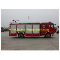 China HOWO fire fighting truck 4x2 drive 7CBM rescue fire truck water tank in red color on sale