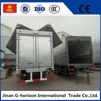 Quality 10 Wheelers Small Cargo Truck , Side Open Wing Van Truck 336hp Horsepower for sale