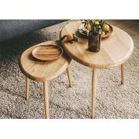 China Simple Living Room Furniture Modern Wood Coffee Table Oval Top Wooden Table wholesale