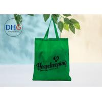 China Green Polyester Tote Bags Silk Screen Printing Advertising Suitable Carrier Sustainable wholesale