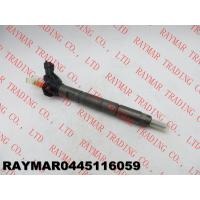 Buy cheap BOSCH Genuine common rail injector 0445116059, 0445116019 for FIAT 580540211, IVECO 5801540211, 504385557 from wholesalers