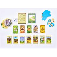 China Tiles Paper Card Board Games Multi Players Varnish Lamination Finishing Colorful Printed wholesale