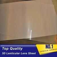 China Hot Sales Factory Price 100 lpi 3D Plastic Lenticular Lens Sheet with Adhesive for 3D Lenticular Advertising Poster wholesale