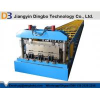 China Cr12 Metal Steel Deck Floor Forming Machine With Chain Drive System  wholesale