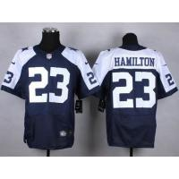 Quality nike nfl cowboys 23 Hamilton thanksgiving blue elite jersey for sale