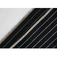 China 11.7oz 100% Cotton Stretchable Jeans Material , Yarn Dyed Striped Twill Fabric wholesale