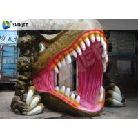 China Black Luxury Chairs Dinosaur 5D Cinema Equipment , Genuine Leather And Fiberglass wholesale