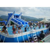 China Commercial Rectangular Above Ground 12ft Steel Framed Swimming Pools wholesale