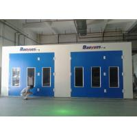 Combined Inner Ramp Commercial Paint Booth Coating Full Grilles Energy Saving