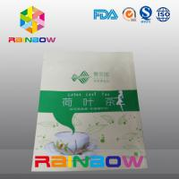 China Stand Up Moisture Proof Tea Bags Packaging With Top Zipper And Tear Notch wholesale