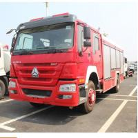 China 290 Hp Howo 4×2 Rescue Fire Truck With 8000kg Water Capacity Model SHMC5256 wholesale
