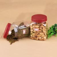 China 20oz Square Pet Jar For Nuts Packaging, Food Grade 660ml Plastic Bottle on sale