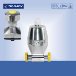 "Forging Body Sanitary Diaphragm Valve , Mini type diaphragm actuator valve 1/4"" Clamp Ends"