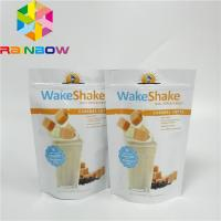 China Resealable Stand Up Zipper Pouch Bags Milk - Tea Powder Packaging Glossy Finished Full Printing wholesale