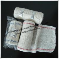 China Surgical Elastic Crepe Bandage Bleached / Natural With Line Comfortable To The Skin wholesale