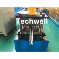 China PPGI , Galvanized Steel Guide Rail Roll Forming Machine With Disk Saw Cutting For Making Shutter Door Slats wholesale