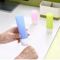 China 1 Ounce Silicone Travel Packing Bottle , Silicone Travel Containers Mixing Color wholesale