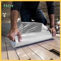 China Heavy Duty Hard Floor Protection Film Roll 25M X 500MM Easy Peel Off wholesale