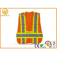 Buy cheap High Visibility Safety Jacket Reflective Safety Vests With Velcro Fasten Custom from wholesalers