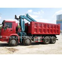 China HOWO 12 Wheeler Dump Truck Mounted Hydraulic Crane Height 14.5m For Industry wholesale