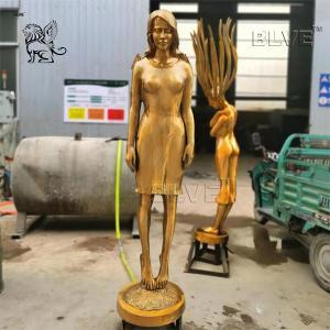 China Bronze Garden Fountain Brass Dancer Sculpture Fairy Fountains wholesale