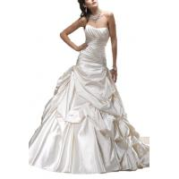 China Albizia Women's Strapless Chapel Train Satin Wedding Dress wholesale