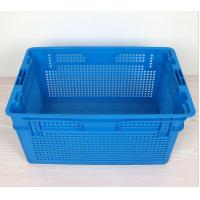 China Plastic Nestable and stackable mesh crate 630*420*315 mm wholesale