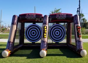 China Flying Single / Double Size Interactive Game Inflatable Axe Throwing Carnival Game For Sale wholesale